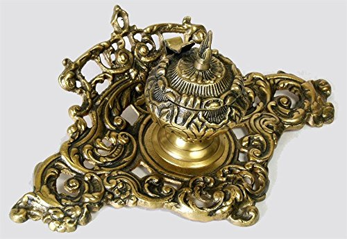 Importing Antique Brass - AA Importing 51662 Single Inkwell, Brass Finish