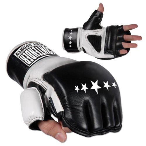 Contender Fight Wristwrap Heavy Bag Gloves (Black/White, Large) ()