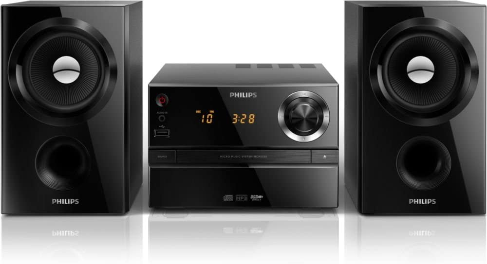 Philips MCM1350/12 - Microcadena (30 W MP3-CD, USB, FM), negro