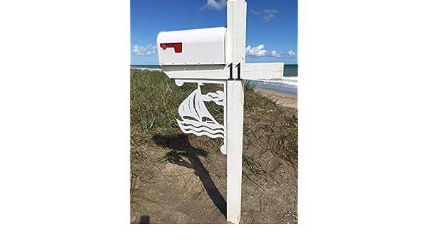 Long Lasting /& Fabulous Free Shipping to mainland USA Sail Boat Mailbox Bracket