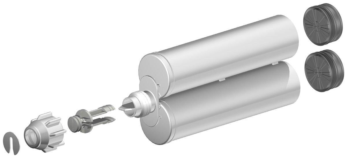 Atlas Pro 200ml-6.8oz Empty 1:1 Ratio Dual-Barrel Cartridge kit with gun & nozzles-100-Pack