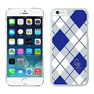 Colorado Rockies iphone 6 Plus Cases 091 White case mate iphone 6 Plus-Slim Bumper Case with Soft Flexible TPU material for Scratch Resistant