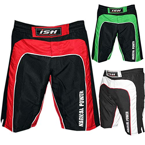 MMA Kick Boxing Fight Short UFC Grappling Muay Thai Martial Arts Cage fighting wear fit (Large 36-38