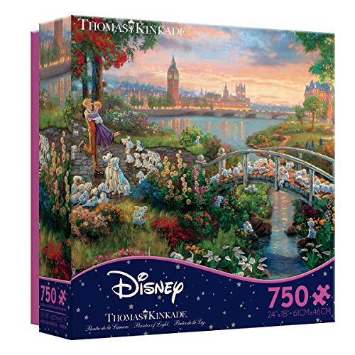 Ceaco Thomas Kinkade The Disney Collection 101 Dalmatians Jigsaw Puzzle, 750 Pieces