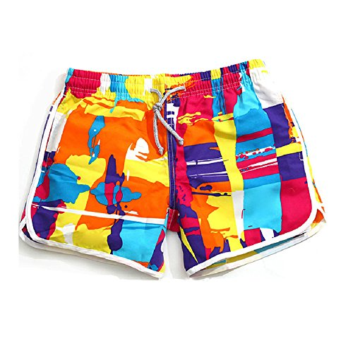 Lifeisbest Women's Summer Board Short colourful Beach Swim Trunks(XS)
