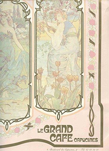 Le Grand Cafe Capucines Menu Boulevard des Capucines Paris France Art (Boulevard Postcard)