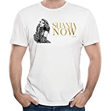 Mens Shania Twain Now Logo Funny Tee Cool Tee White