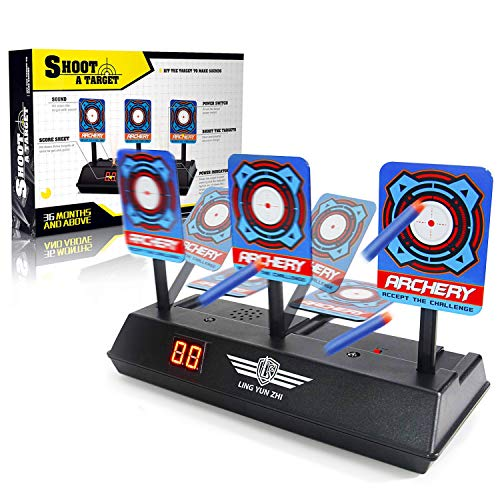 Electronic Scoring Target for Nerf N-Strike Elite/Mega/Rival Series Kids Toy Auto-Reset Intelligent Light Sound Effect Scoring Target for Mega and Rival Series