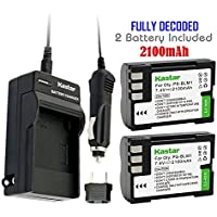 Kastar Battery (2-Pack) and Charger Kit for Olympus BLM-1, BLM-01, PS-BLM1 work for Olympus C-5060, C-7070, C-8080, E-1, E-3, E-30, E-520, EVOLT E-300, E-330, E-500, E-510 Cameras