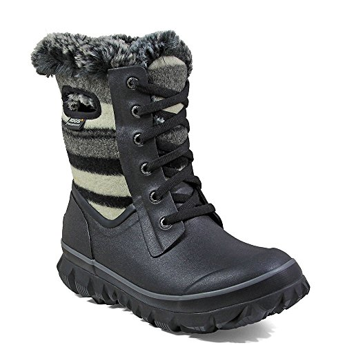BOGS Arcata Sripe Boot - Women's Black Multi, 9.0 (Winter Bogs Boots Women)