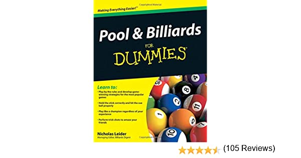 Pool & Billiards for Dummies: Amazon.es: Leider, Nicholas: Libros ...