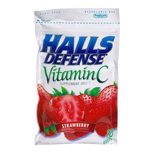 Halls Defense Vitamin C Supplement Drops Strawberry -- 30 Drops