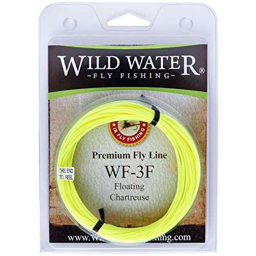 Wild Water Weight Forward Floating 3-Weight Yellow Fly Fishing Line, 90 ft (Freshwater Fly Line Floating)