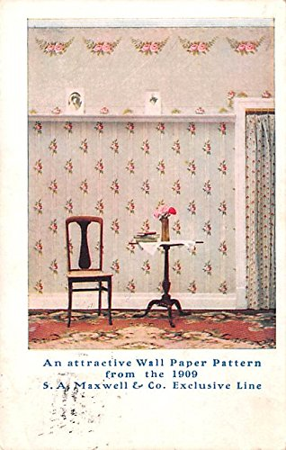 Paint & Wallpaper Advertising Old Vintage Antique Post Card Maxwell Exclusive Line Postal Used Unknown