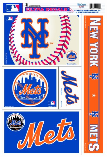 (MLB New York Mets 11-by-17 Inch Ultra Decal Multiple Designs)