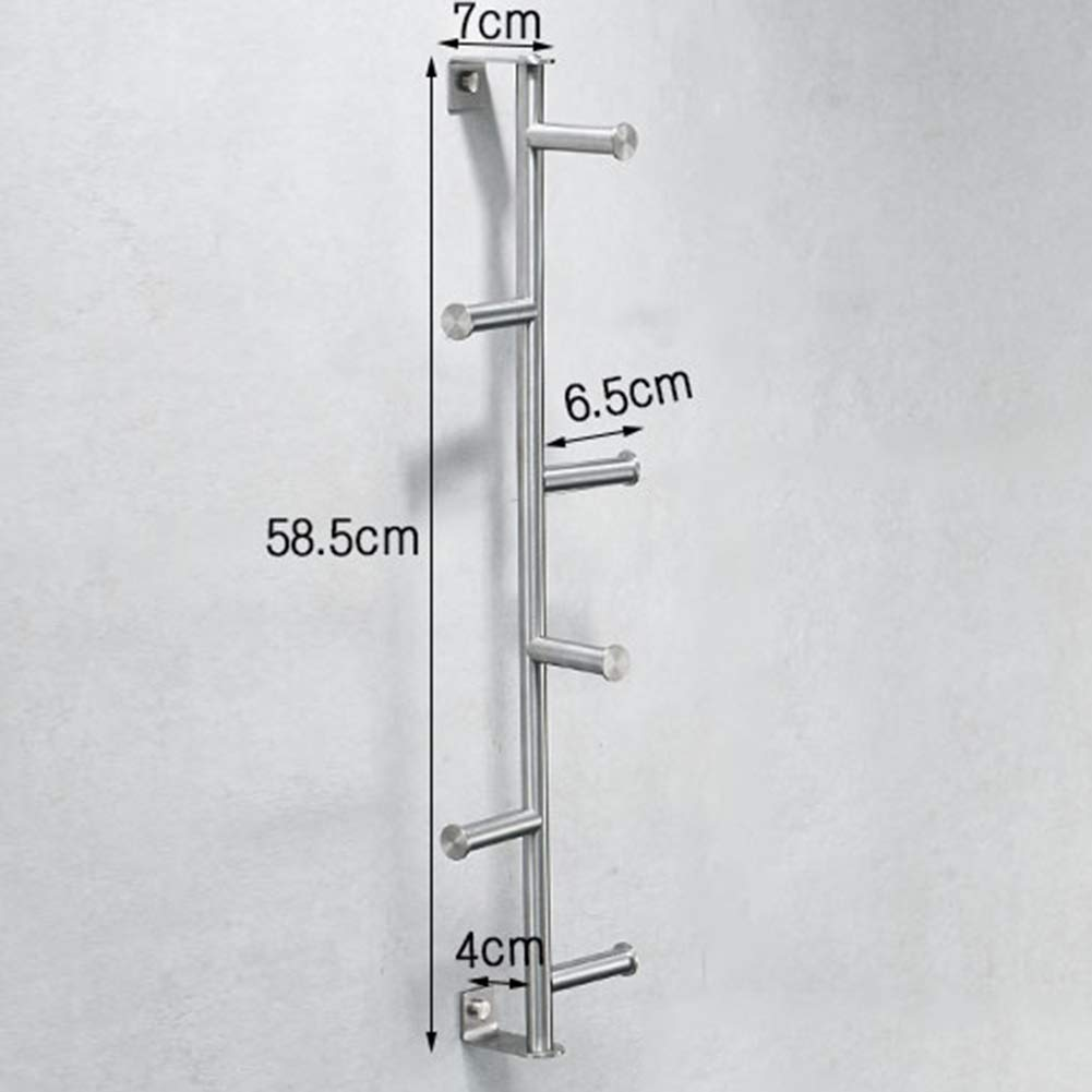 vertice Stainless Steel Towel Holders Towel Bar Towel Rack Vertical Wall-Mounted Hook Wire Drawing Craft Hanging Clothes Hanging