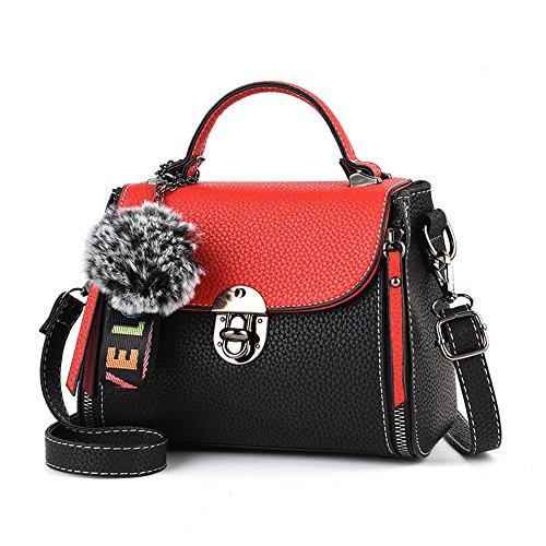 SJMMBB Mini Bolsa De Verano, Señoras Bolso De Mano, Solo Hombro Bolsa Spanning Sesgar,Red/A,21X20X16Cm. /B rojo