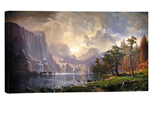 Eliteart-Among the Sierra Nevada Mountains, California (1868), By Albert Bierstadt Oil Painting Reproduction Giclee Wall Art Canvas Prints ()
