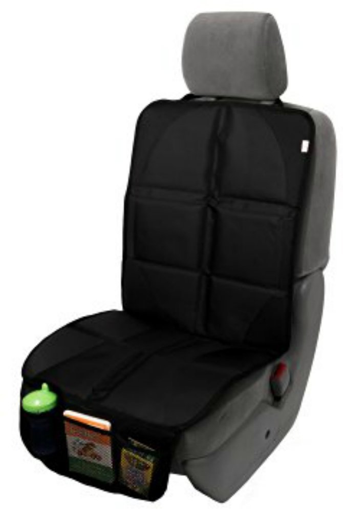 Car Seat Protector Seat Cover Mat for Under Car Seat - Covers Entire Seat - Premium Durable Construction
