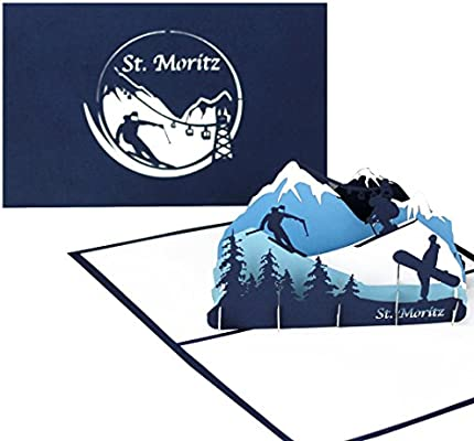 Tarjeta de felicitación St. Moritz - 3d tarjeta como ...
