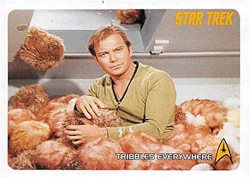 (William Shatner Captain Kirk trading card Star Trek Archives 2008 #198 Tribbles)