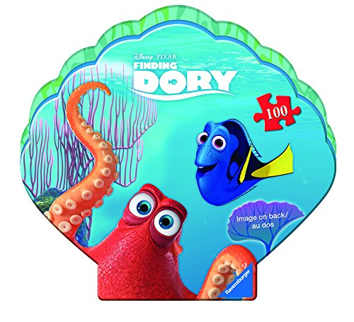 Ravensburger Disney: Finding Dory In A Clam Shaped Box 100 Piece Jigsaw Puzzle for Kids – Every Piece is Unique, Pieces Fit Together Perfectly