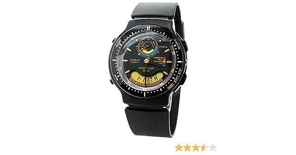 Casio AW-60-1EV - Reloj de pulsera hombre, caucho, color negro: Amazon.es: Relojes