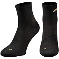 ZaTech Plantar Fasciitis Sock, Compression Socks for Men & Women. Heel, Arch, Achilles, Ankle Light Support Brace. Increase Blood Circulation, Reduce Swelling, Foot Pain & Tendonitis Relief & Recovery