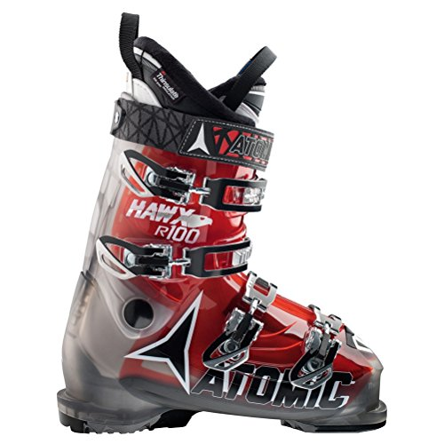 Atomic Hawx R 100 Ski Boots - 27.5/Smoke-Transparent Red