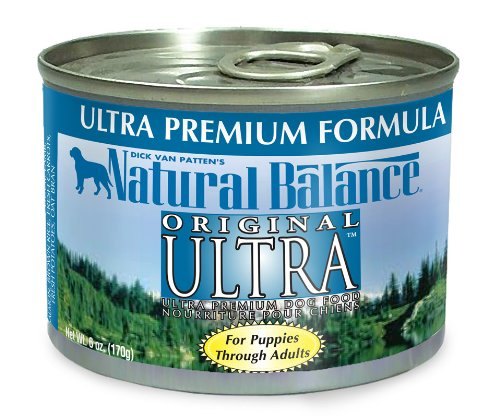 Natural Balance Original Ultra Formula Dog Food (Pack of 12 6-Ounce Cans), My Pet Supplies