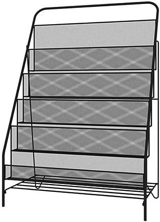 CJH Estantería Infantil nórdica Estantería Simple y Moderna de Hierro Forjado Revisteros de estanterías Estantería de Libros para niños Simple Landing Negro: Amazon.es: Hogar