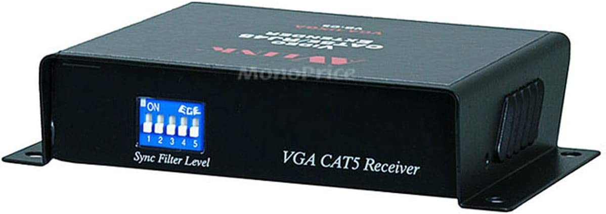 VGA//UXGA CAT5//RJ45 100 Meters Extender Kit Balun Self-Powered