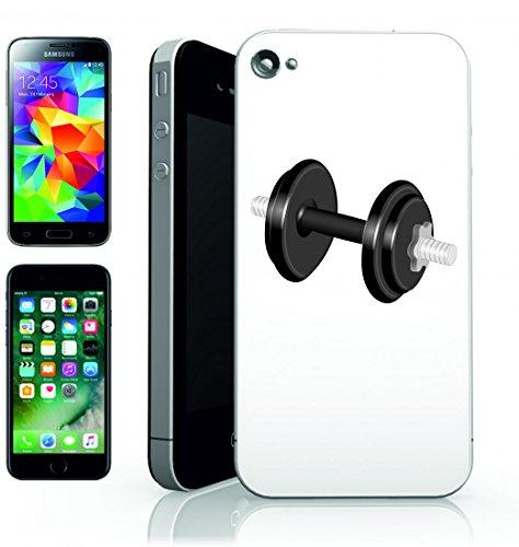 Smartphone Case Nero di manubri Esercizio di fitness spazio del peso di sollevamento pesi per Apple Iphone 4/4S, 5/5S, 5C, 6/6S, 7& Samsung Galaxy S4, S5, S6, S6Edge, S7, S7Edge Huawei HTC–Div