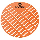 Hospeco Airworks AWUS007 Urinal Deodorizer Screen Mango Orange (6 Boxes of 10)