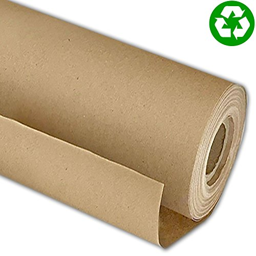 #1 Eco Kraft Paper Roll, Large 30' x 1200' (100ft), MADE IN THE USA from 100% Recycled Material