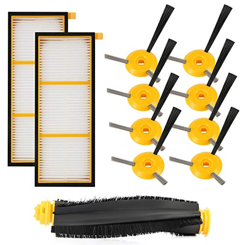 - cabiclean Replenishment Kit Compatible Shark ION Robot RV750, RV720, RV700, RV750C, RV755. 11 Pack (1 Main brushroll & 2 Filters & 8 Side Brushes)