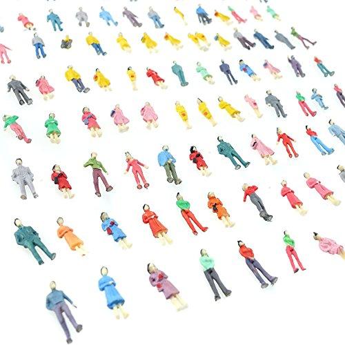 Ho Scale Block (100 x Building Layout Model People Train 1:87 HO Scale Painted Figure Passenger)