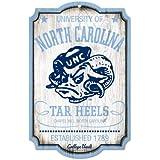 NCAA College Vault North Carolina Tar Heels 11-by-17 Wood Sign