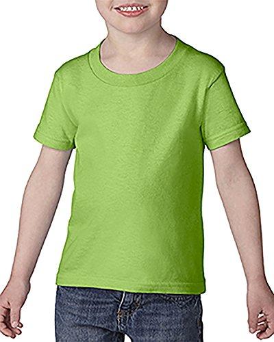 - Gildan Toddler Softstyle 45 oz T-Shirt - Lime - 2T - (Style # G645P - Original Label)