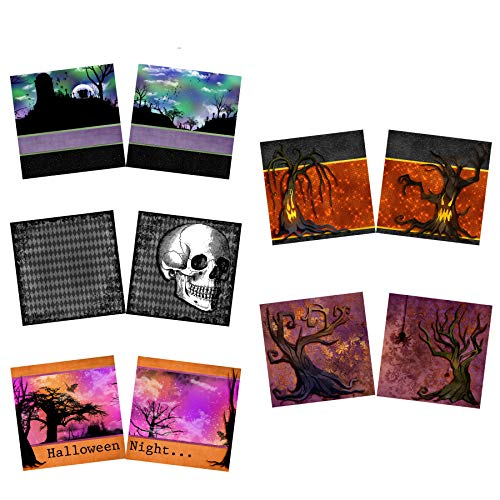 Halloween Night NPM - Scrapbook Set - 5 Double Page Layouts for $<!--$19.99-->