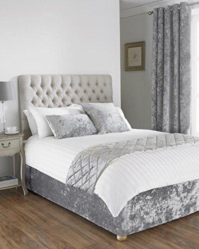 Velluto divano letto base Wrap mantovana in letto king size misura letto in  argento grigio 40