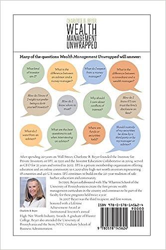 Wealth Management Unwrapped: Charlotte B. Beyer: 9780578145624 ...