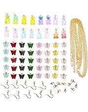 EXCEART Sieraden Maken Benodigdheden Kit Vlinder Beer Hangers Bedels Earring Haken En Link Chain Voor Diy Sieraden Earring Armbanden Ketting Craft Bevindingen