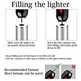 Triple Jet Flame Torch Lighter, Refillable Butane