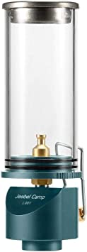 Lixada Linterna de Gas Lámpara de Camping con Adaptador de Válvula Lindal para Acampar Picnic Senderismo