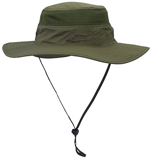 cd6ef7b21c7 YOYEAH Outdoor UPF 54+ Boonie Hat Outdoor Mesh Sun Hat Bucket Hats Fishing  Hats Army