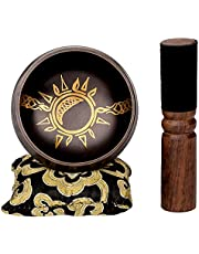 Sun/Moon Singing Bowl Set — Ancient Tools for Connecting with Cyclical Earth Energy — Sound Bowl Handcrafted in Nepal for Chakra, Healing and Meditation (Sun/Moon Singing Bowl Set)