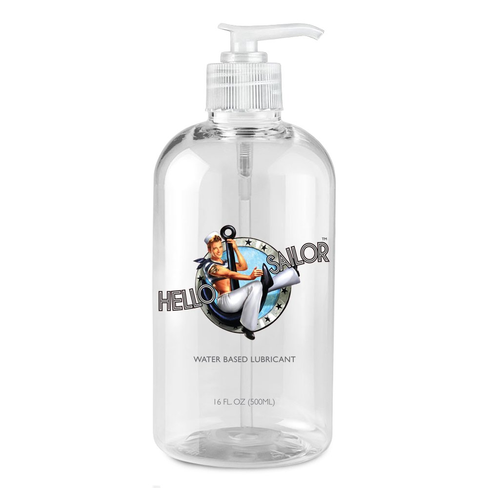 Hello Sailor Personal Water Based Lube 16 ounces. Made in USA  by Hello Sailor