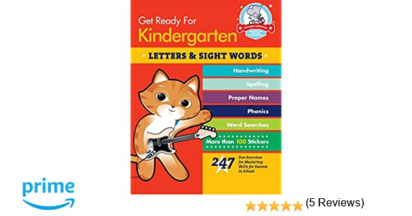 Amazon.com: Get Ready for Kindergarten: Letters & Sight Words: 247 ...