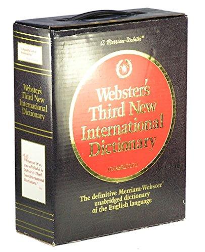 Webster's Third New International Dictionary/Unabridged